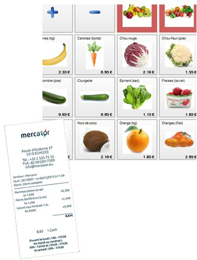 ticket de caisse Mercator