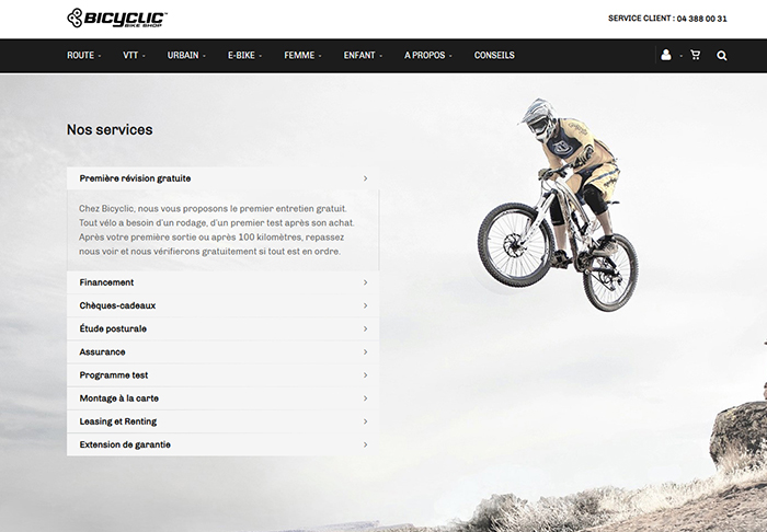 bicyclic webshop