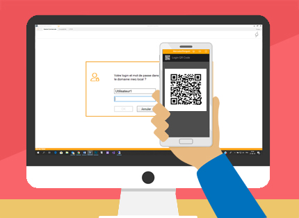 Login avec QR code MercatorPenguin